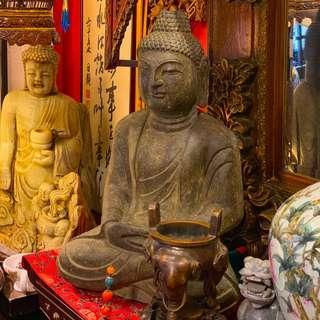 Antique River Stone Buddha Figuring Circa 1400