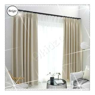 🚚 Curtain with blackout effect- 130cm by 180cm (Beige)