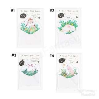 Sweet Bunny Rabbit Sticky Note / Post it / Memo
