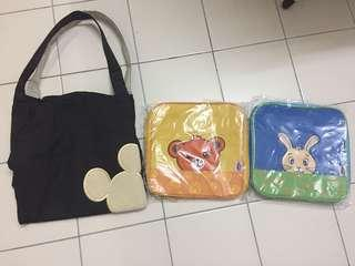 Disney Mickey diaper bag and lunch bags