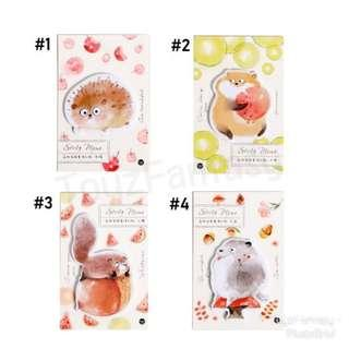 Adorable Critters Sticky Note / Post it / Memo