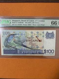 A/1 bird $100 PMG 66
