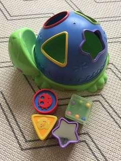 Fisher Price Shape Sorter turtle toy
