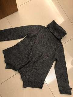 B + ab heather grey wool jersey