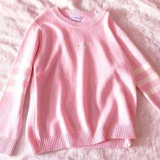 🚚 Knitted Pink Pullover