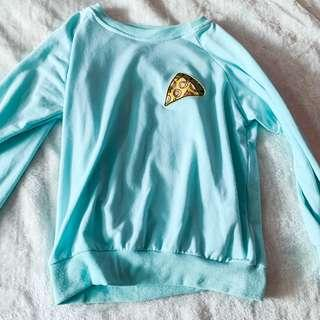 🚚 Pizza Turquoise Pullover