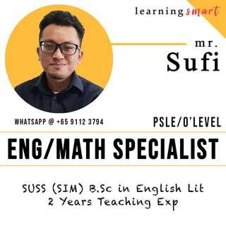 English & Math Home tuition Primary PSLE Secondary O level