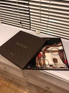 Gucci authentic silk scarf (with original packing)