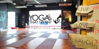 Yogaonethatiwant coupon (8 classes + 1 FOC class) yoga classes