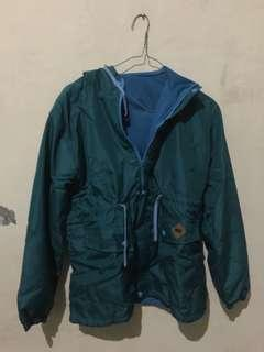 Preloved Jaket Parka warna hijau