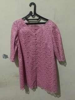 Preloved Kebaya Big size pink colour