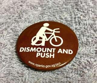 Nparks Launch of Cycling Path - Dismount And Push Badge