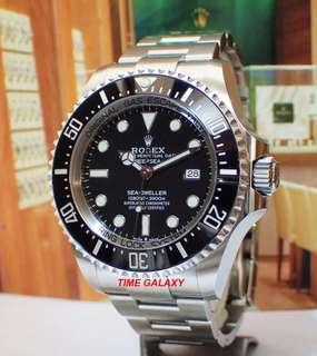 Brand New ROLEX professional Deepsea Black 44mm Automatic Stainless Steel watch. Model 126660. Swiss made.