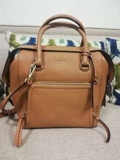 DKNY Chelsea Vintage Style Copper Leather North/South Satchel