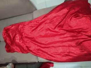 Gaun kemben merah preloved