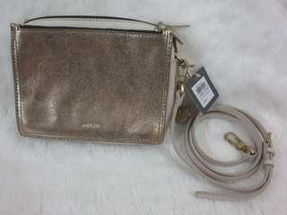 Fossil Campbell Crossbody Pale Gold Metallic
