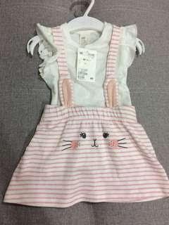 H&M 2pieces pink dress 4-6M