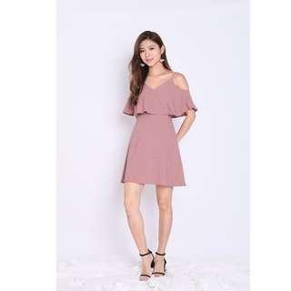 🚚 BN Tpz Lendon Stripes Dress in Dusty Pink
