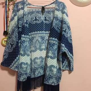 factorie paisley blue kimono