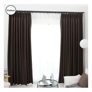 🚚 Curtain with blackout effect- 130cm by 180cm (Walnut)