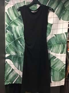 🚚 Diane von Furstenberg黑色抓皺合身洋裝