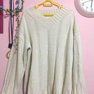 oversized korean cream sweater