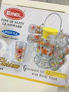 GLASSWARE SET WITH STAND