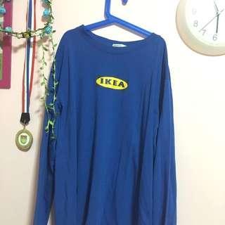 ulzzang dark blue ikea pullover