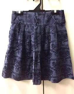 Gathered Flared Mini Skirt Greyish Black