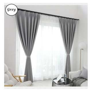 🚚 Curtain with blackout effect- 130cm by 180cm (Grey)