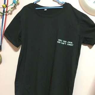 """once you jimin you can't jimout"" shirt"