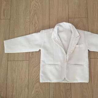 Formal White Jacket with Trimmings