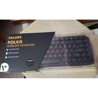 Valore Polka Wireless Bluetooth Keyboard (AC66) (Black)