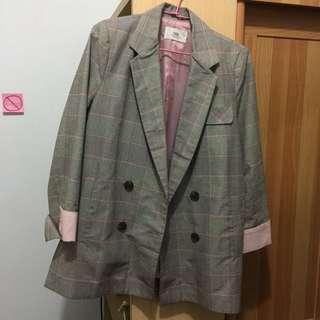 🚚 🇰🇷東大門 粉色西裝外套(均碼)全新
