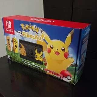 Pokemon Let's Go Pikachu Switch Console Bundle