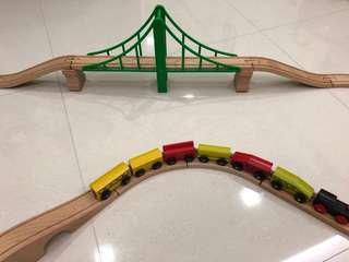 IKEA train racks and trains
