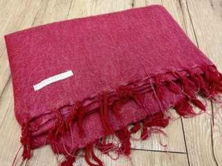 LF桃紅圍巾