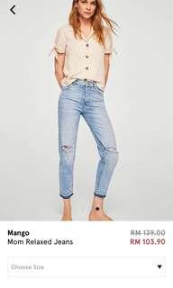Mango Mum Relaxed Jeans