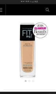 BRAND NEW Maybelline Fit Me Matte + Poreless Foundation (120 Classic Ivory)