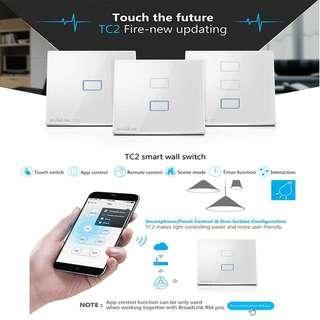 🚚 Broadlink Light Smart Touch Switch 1/2/3 Gang
