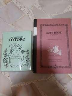MY NEIGHBOUR TOTORO NOTEBOOKS