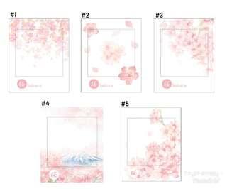 Sakura Flowers Sticky Note / Post it / Memo - Set A