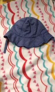 Blue polka hat-cap for baby 3 to 12months
