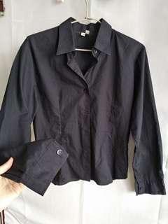 🚚 黑色 長袖 襯衫