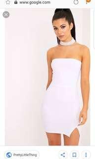 BNWT Pretty little things white dress