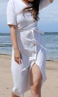 Dress white 1x pakai