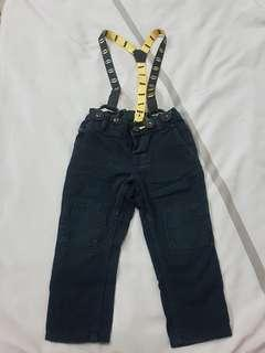 H&M trousers with suspenders