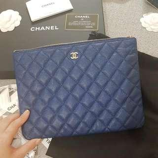 Authentic Chanel Pouch In Champagne Hardware