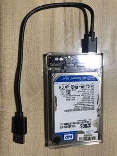 WD 320gb mobile harddisk