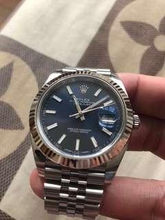 Rolex Datejust 41 126334 Blue Dial White Gold Fluted Bezel Jubilee Bracelet
